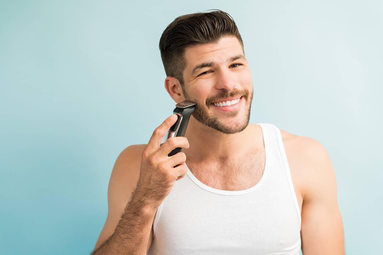 estética para hombres afeitado